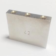 Сустейн-блок Schaller, стальной, 42мм Хром