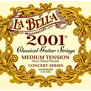 2001M 2001 Medium Комплект струн для классической гитары, среднее натяжение, посеребренные, La Bella
