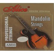 AM03 Комплект струн для мандолины, посеребренная медь, [20] Alice