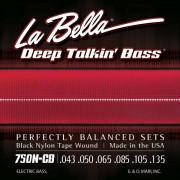 750N-CB Deep Talkin' Bass Комплект струн для 6-струнной бас-гитары, сталь/нейлон, 43-135, La Bella