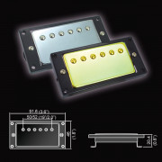 BH-20(CR)Bridge Звукосниматель магнитный, хамбакер, бриджевый, хром, Belcat