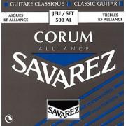500AJ Alliance Corum Комплект струн для классической гитары, сильное натяжение, посеребр, Savarez