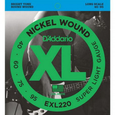 Струны D'Addario Nickel Wound Bass 40-95 (EXL220 XL)