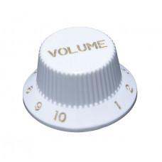 Ручка потенциометра громкости Hosco, под дюймовый шток, белая KW-240VI, 1шт