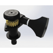 Колок Hipshot Grip-Lock Open, запирающий, черный, левый (6GL0B)