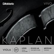 KV410-LM Kaplan Vivo Комплект струн для альта, среднее натяжение, Long Scale, D'Addario