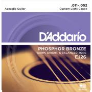 Струны D'Addario Phosphor Bronze Acoustic 11-52 (EJ26)