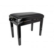 HY-PJ018A-GLOSS-BLACK Банкетка, черный/черный, кожзам, Rin