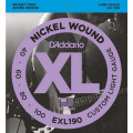 Струны D'Addario Nickel Wound Bass 40-100 (EXL190 XL)