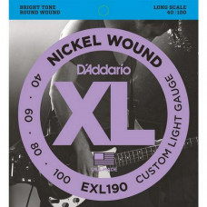 Струны D'Addario Nickel Wound Bass 40-100 (EXL190 XL)