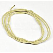 Провод для распайки тембр-блока Hosco CBL-100CLW, в ткани, Vintage Style, белый, 10 см