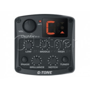 Звукосниматель пьезо для акустики Cherub GT-3 с 4х-полосным эквалайзером,тюнером и контролем обратной связи