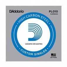 Струна D`Addario для гитары .010, сталь (PL010)