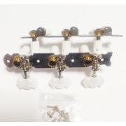 Колки Jinho (Guitar Technology), бабочка, 3+3 планка, для классической гитары, 35мм, планка (Jinho.JC59N)
