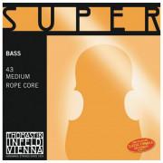 43 Super Flexible Комплект струн для контрабаса размером 4/4, соло, Thomastik