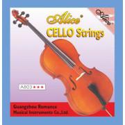 A803 Комплект струн для виолончели, никель. Alice