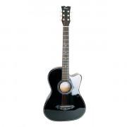 Акустическая гитара Foix, черная с вырезом (FFG-1038BK)