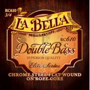 RC610 Комплект струн для контрабаса размером 3/4, La Bella