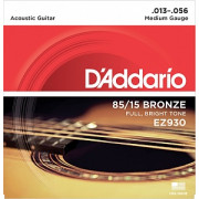 Струны D'Addario American Bronze 85/15 Acoustic 13-56 (EZ930)