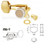 Колок запирающий правый (реверсный) Gotoh SG381-07R-MGT/WS Золото
