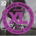 Струны D'Addario Nickel Wound (10 комплектов) 9-42 (EXL120-10P)