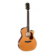 Gold-A8-NAT Gold Series Электро-акустическая гитара, с вырезом, цвет натуральный, Cort