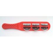 FLT-G16-2R Бубенцы плоские на пластиковой красной ручке, 6 пар, Fleet