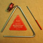 MS-ZH-TR-818 Треугольник с палочкой, 18см, Мастерская Сереброва