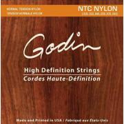 009350 NTC Nylon Комплект струн для классической гитары, среднее натяжение, Godin
