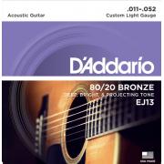 Струны D'Addario 80/20 Bronze Acoustic 11-52 (EJ13)