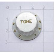 Ручка регулировки тона GF (Guitar Factory), Белый  KW-240T/V, 1шт