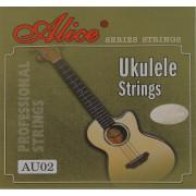 AU02 Комплект струн для укулеле, черный нейлон [20] Alice