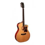 GA5F-CB-NAT Grand Regal Series Электро-акустическая гитара, с вырезом, цвет натуральный, Cort