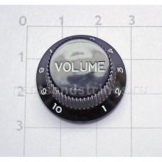 Ручка регулировки громкости GF (Guitar Factory), Черный KB-240T/V, 1шт