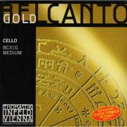 BC31G Belcanto Gold Комплект струн для виолончели размером 4/4, среднее натяжение, Thomastik