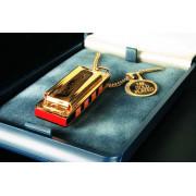 M110 Little Lady Губная Гармошка миниатюрная позолоченная в подарочном футляре Hohner