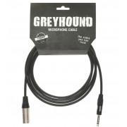 Кабель Klotz Greyhound микрофонный XLR male, стерео jack 6,3, 3м (GRG1MP03.0)