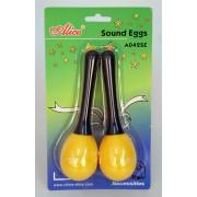 A042SE Маракас-яйцо на пластиковой ручке 2шт, различные цвета, Alice