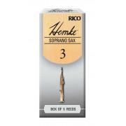 RHKP5SSX300 Hemke Трости для саксофона сопрано, размер 3.0, 5шт, Rico