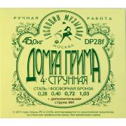 DP28F Комплект струн для Домры Прима 4-струнной, Господин Музыкант
