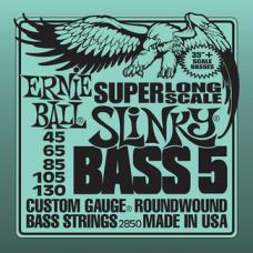 Струны Ernie Ball Super Long Scale Slinky Bass 5-string 45-130 (2850)