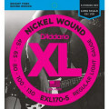 Струны D'Addario Nickel Wound Bass 5-string 45-130 (EXL170-5 XL)