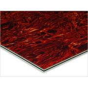 Пластик Hosco для изготовления панелей (pickguard), лист 23х39 см, трехслойный, черепаховый (PG-T3)