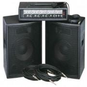 ZH0602D12LS Комплект акустической системы, микшер, микрофон, кабели, 2х200Вт, Soundking
