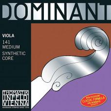 141 Dominant Комплект струн для альта размером 4/4, среднее натяжение, Thomastik