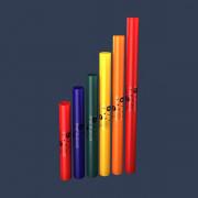 BWPW-P Boomwhackers Музыкальные трубки, пентатонический набор 6 нот, Boomwhackers