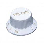 KW-240V Ручка потенциометра, Volume, белая, метрическая, Hosco