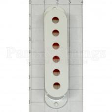 Крышка для звукоснимателя сингл Hosco OD-ST-CW, 10.5мм между отверстиями, белая