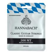 500MT Комплект струн для классической гитары, посеребренная медь, среднее натяжение, Hannabach