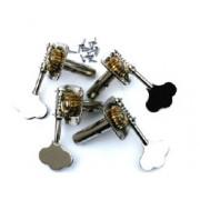 BXZ-10 Комплект колковой механики для контрабаса 3/4, посеребренный, Mirra